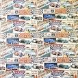 Cartolina Decorada Prime Carros Antigos/Listras 120g