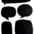 Adesivo Chalkboard Balões de Diálogo