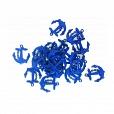 Pingente Plásticos Âncora Azul c/ 20 unidades