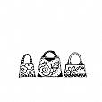 Carimbo Três Bolsas
