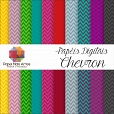 Kit de Papéis Digitais - CHEVRON com 20 folhas