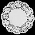 Papel Rendado Branco - Doilies 27cm - 10 unidades