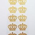 Cartela G Strass Coroa Dourado c/ 20 unidades