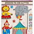 Adesivos com Glitter - Circo