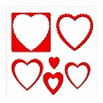 Moldura Corações