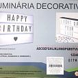 Placa Luminosa LED Decorativa e Criativa c/110 slides