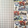 Cartolina Decorada Prime Motorcicle / Xadrez 120g