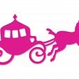 Carruagem - Acrílico Pink