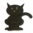 Gato Miau Acrílico Preto