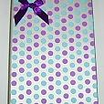 Caixa de Presente Azul/Roxa Poá