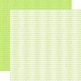 Papel Verde Bebê Fundo Branco Poá Pequeno
