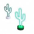Luminária de Mesa Luz Neon - Cactus