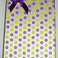Caixa de Presente Amarela/ Roxa Póa