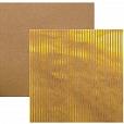 Papel Kraft Listras Metalizada Dourada 17730