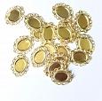 Tag Metal Oval 3,2 x 2,4cm - Dourada c/ 20 unidades