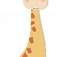 Aplique MDF - Girafinha