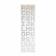Cartela Alfabeto Strass Cristal 3cm